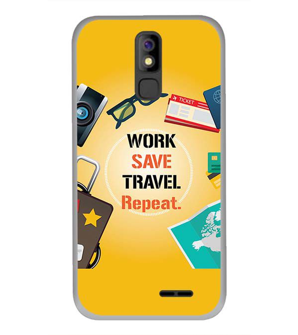 Work. Save. Travel. Repeat Back Cover for Panasonic P100