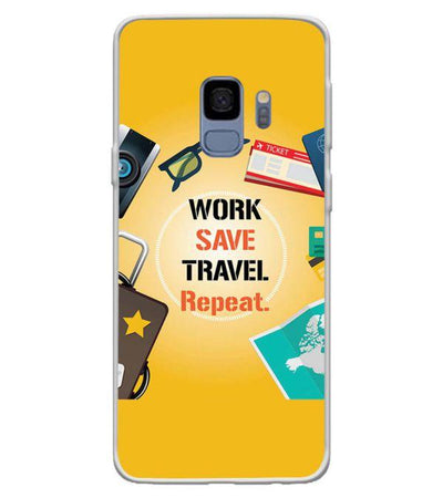 Work. Save. Travel. Repeat Back Cover for Samsung Galaxy S9-Image3