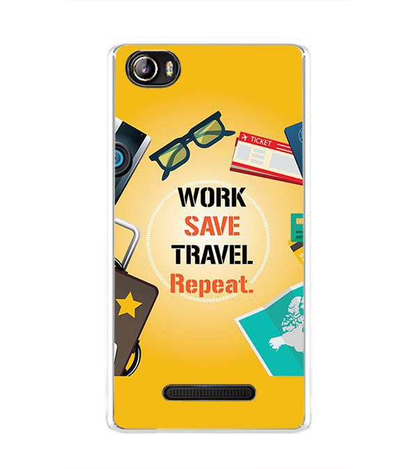 Work. Save. Travel. Repeat Back Cover for Sansui Horizon 1
