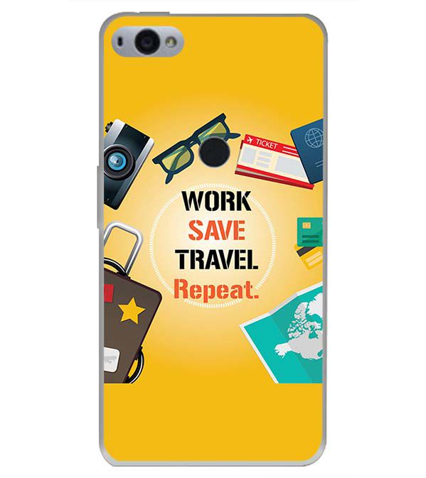 Work. Save. Travel. Repeat Back Cover for Smartron SRT Phone