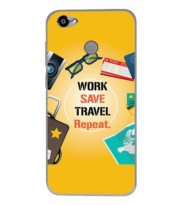 Work. Save. Travel. Repeat Back Cover for Smartron TPhone (P)