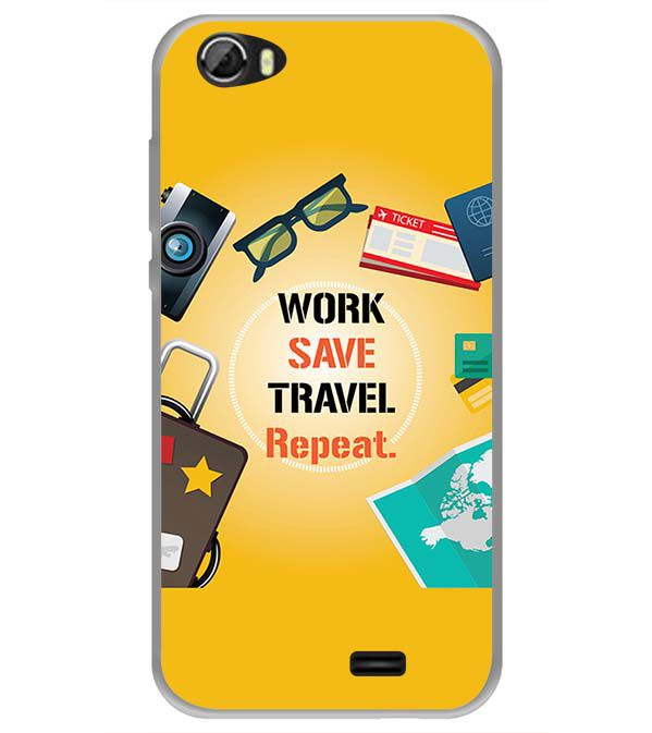 Work. Save. Travel. Repeat Back Cover for Videocon Krypton 22 Plus