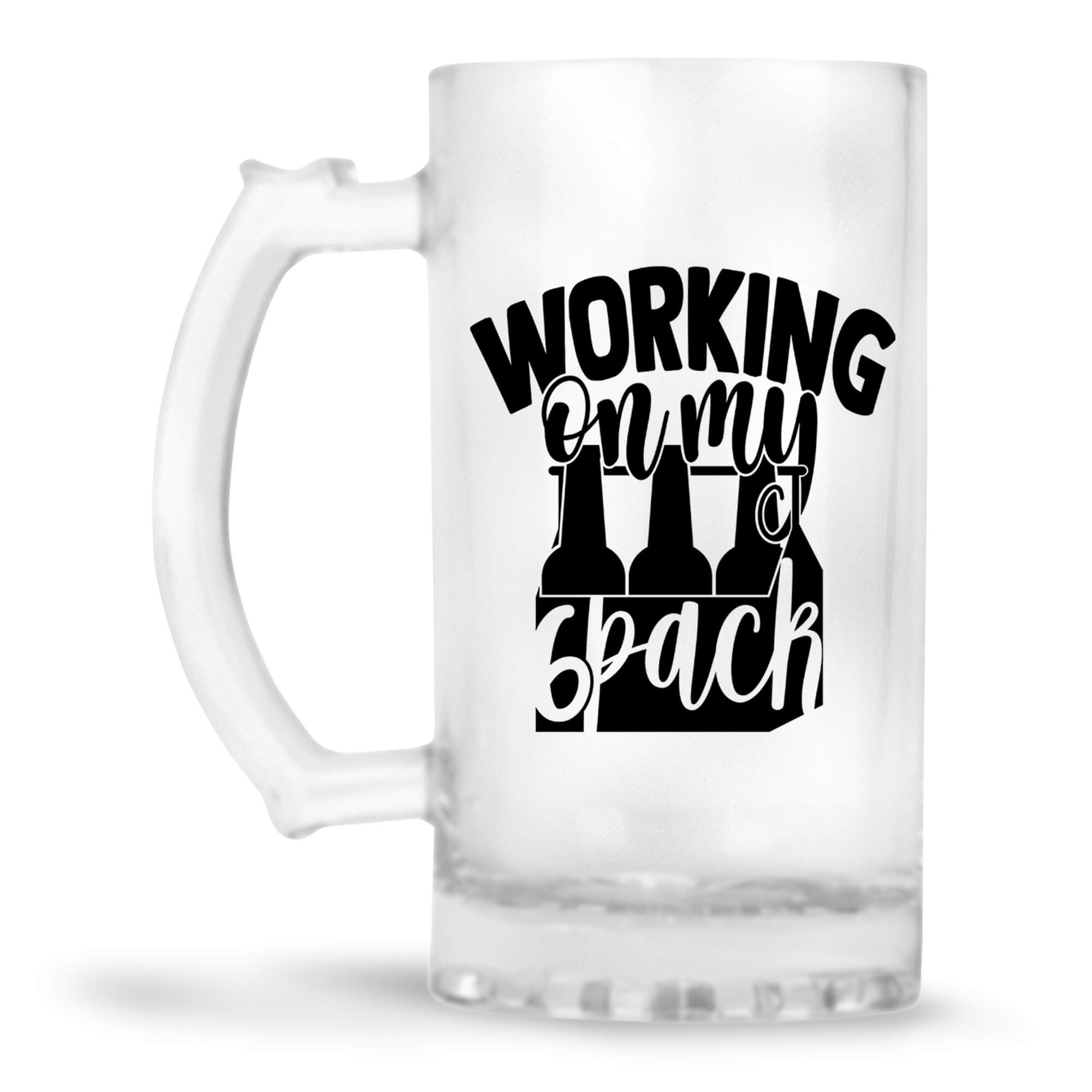 Working on My Six Pack Beer Mug