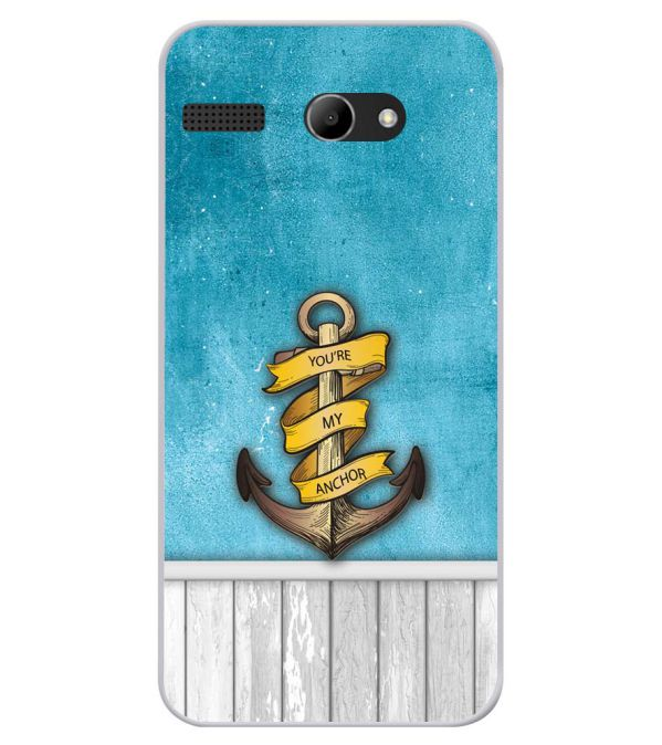 You Are My Anchor Soft Silicone Back Cover for Lava Iris Atom X