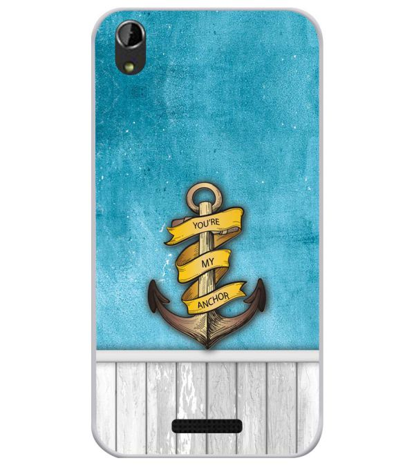 You Are My Anchor Soft Silicone Back Cover for Lava Iris Atom X1