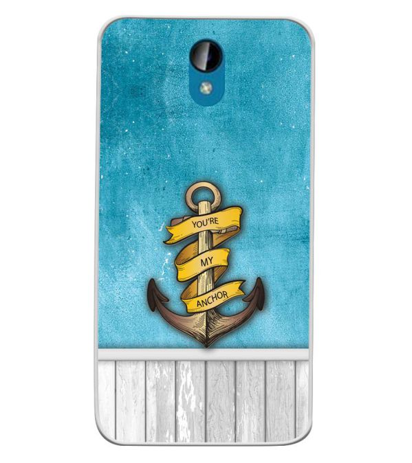 You Are My Anchor Soft Silicone Back Cover for Intex Lions 6