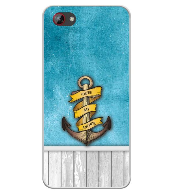 You Are My Anchor Soft Silicone Back Cover for Spice F301