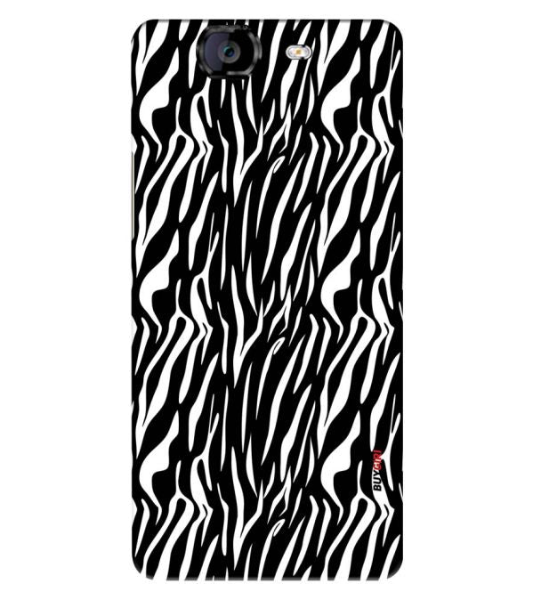 Zebra Stripes Back Cover for Micromax A350 Canvas Knight