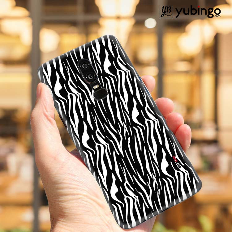 Zebra Stripes Back Cover for OnePlus 6