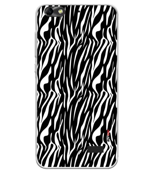 Zebra Stripes Soft Silicone Back Cover for Huawei Honor Bee 4G