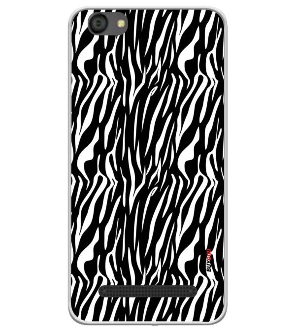 Zebra Stripes Soft Silicone Back Cover for LYF Flame 5