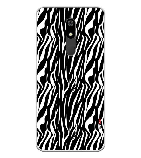 Zebra Stripes Soft Silicone Back Cover for Micromax Canvas Infinity Pro