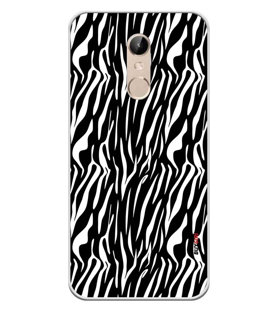 separation shoes 5afb7 b224d Zebra Stripes Soft Silicone Back Cover for Mobiistar X1 Dual