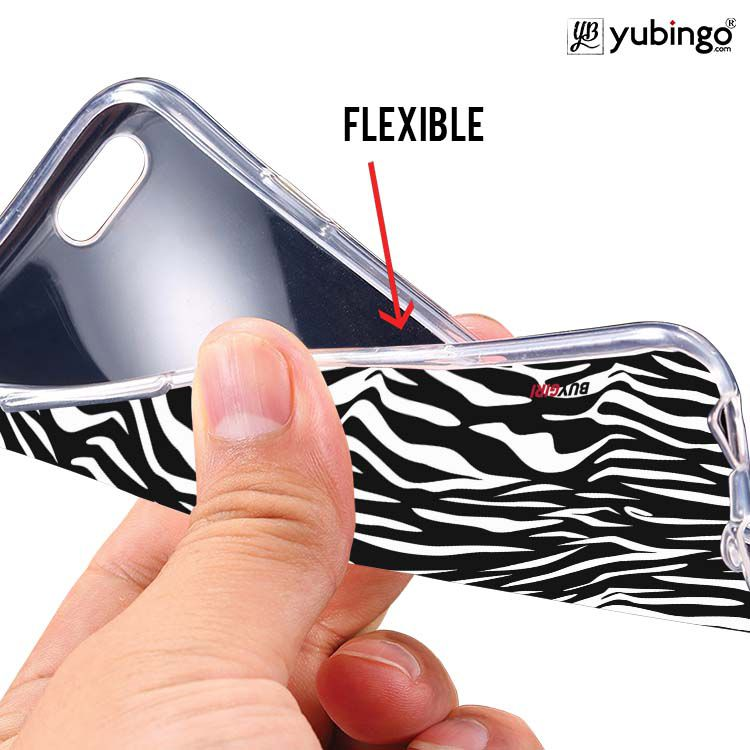 Zebra Stripes Soft Silicone Back Cover for Lava Iris Atom X1
