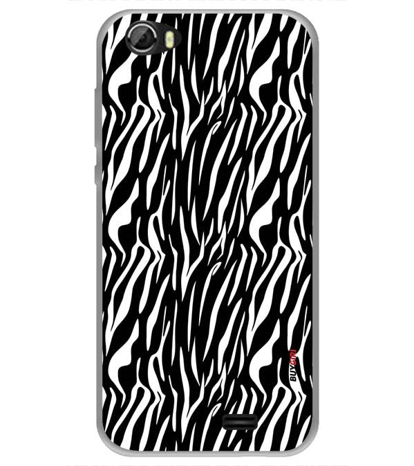 Zebra Stripes Back Cover for Videocon Krypton 22 Plus