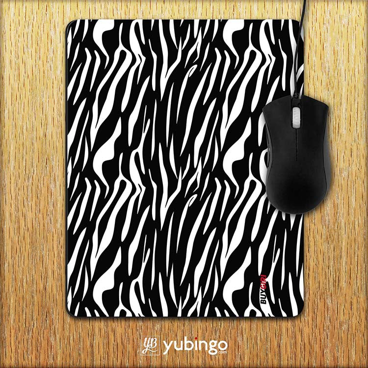 Zebra Stripes Mouse Pad