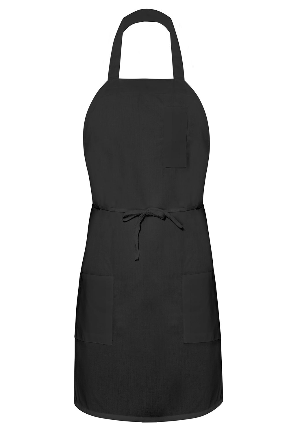 Black Bib Apron (3 Pockets)