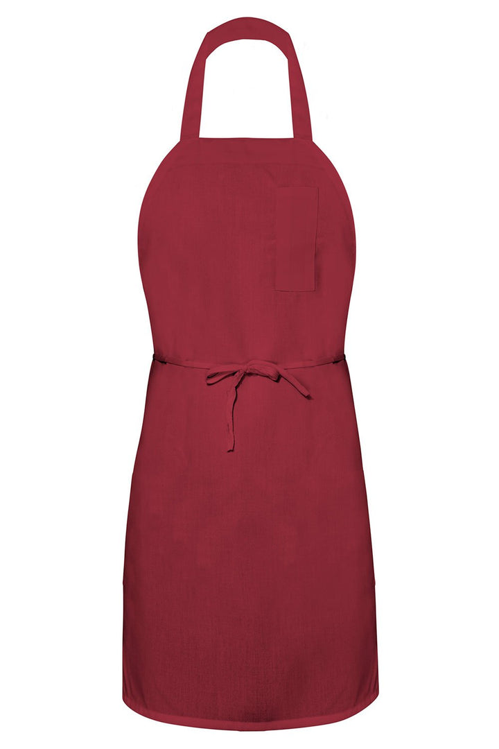 Burgundy Bib Apron (1 Pencil Pocket)