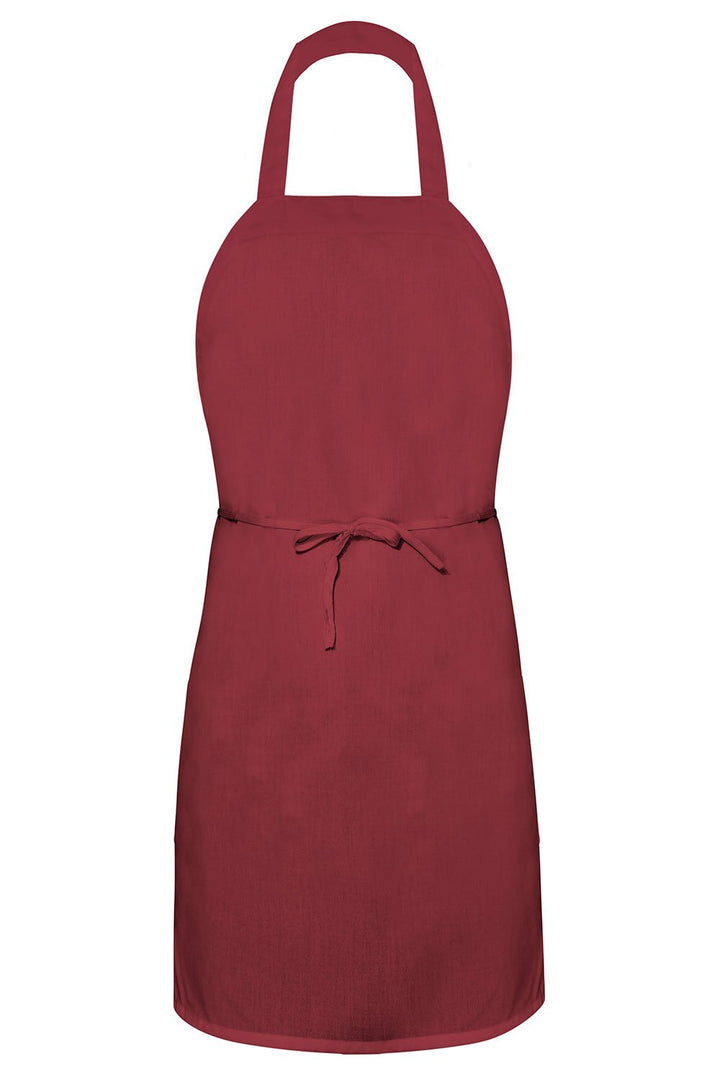 Burgundy Bib Apron (No Pockets)
