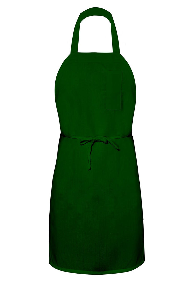 Forest Green Bib Apron (1 Pencil Pocket)