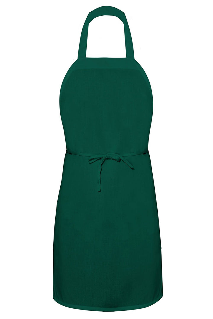 Forest Green Bib Apron (No Pockets)