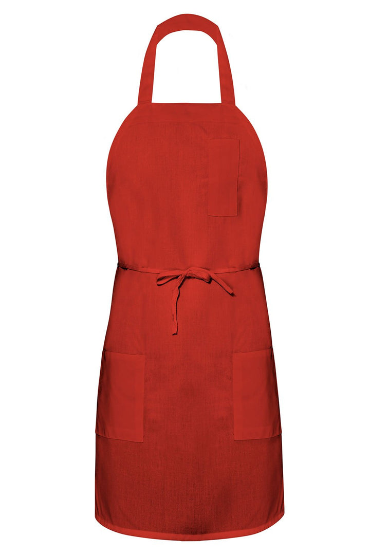 Red Bib Apron (3 Pockets)