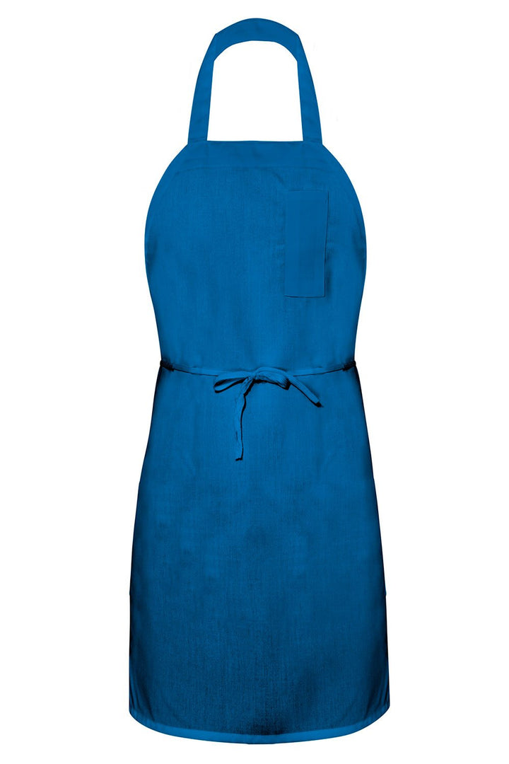 Royal Blue Bib Apron (1 Pencil Pocket)