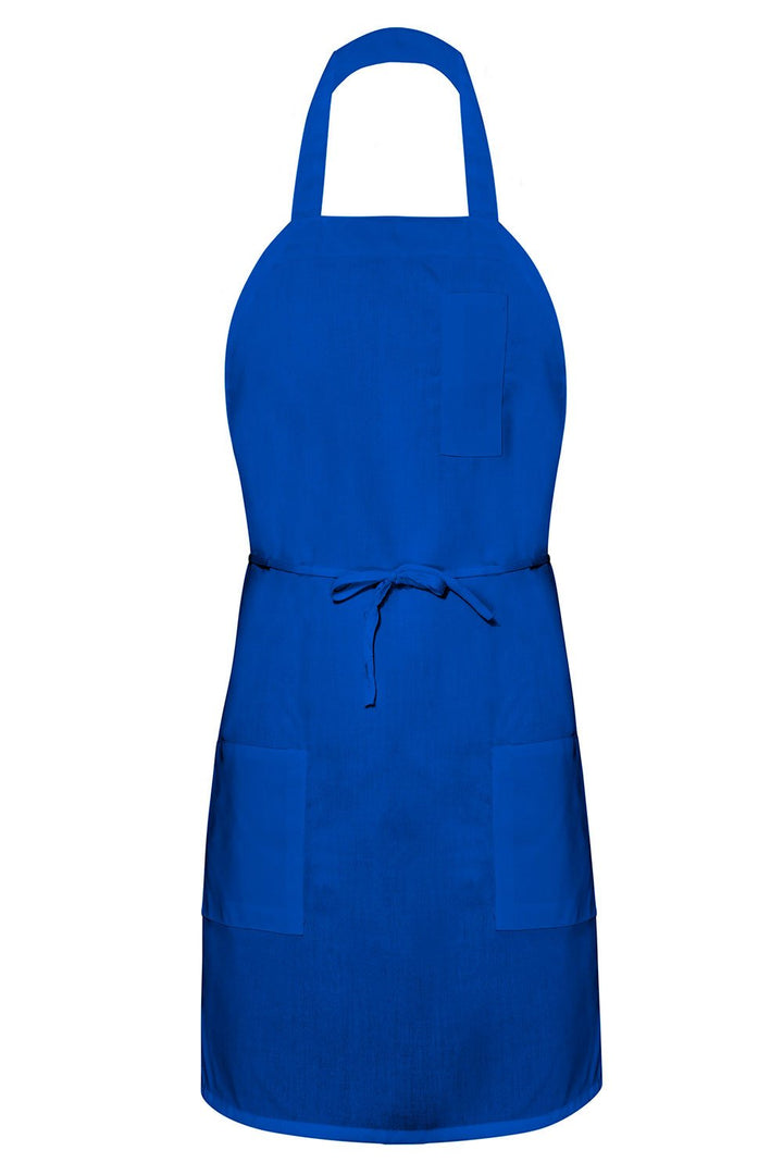 Royal Blue Bib Apron (3 Pockets)