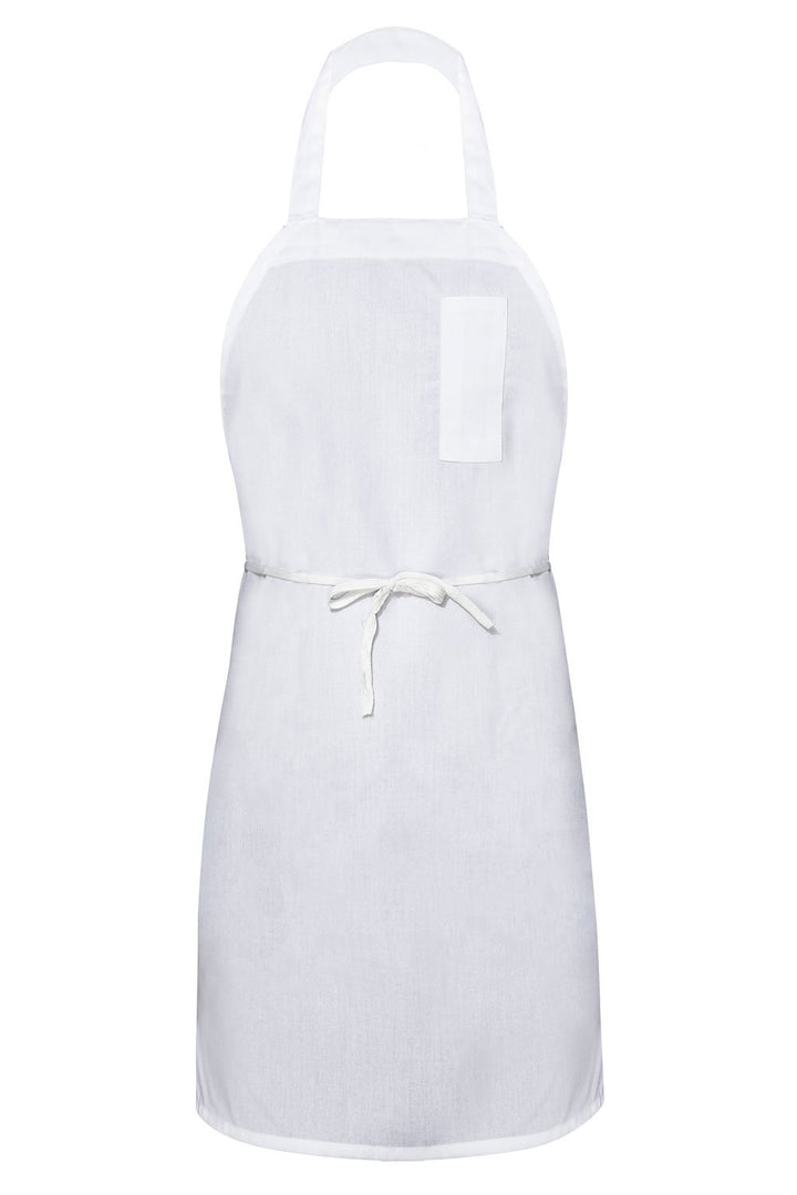 White Bib Apron (1 Pencil Pocket)