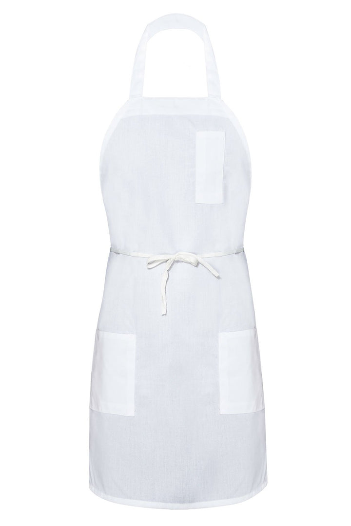 White Bib Apron (3 Pockets)