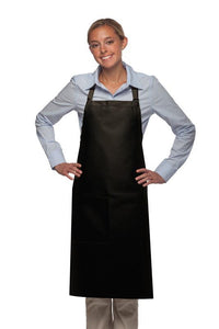 Black 1 Pocket Adjustable Butcher Apron