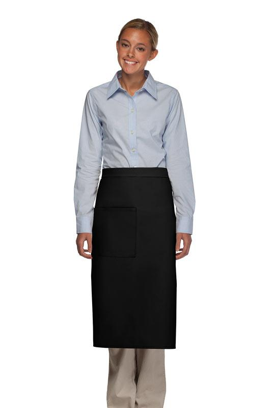 Black 1 Pocket Full Bistro Apron