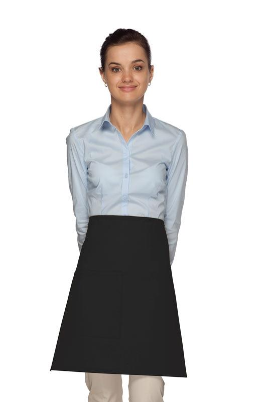 Black 1 Pocket Half Bistro Apron
