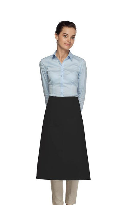 Black 1 Pocket Three Quarter Bistro Apron