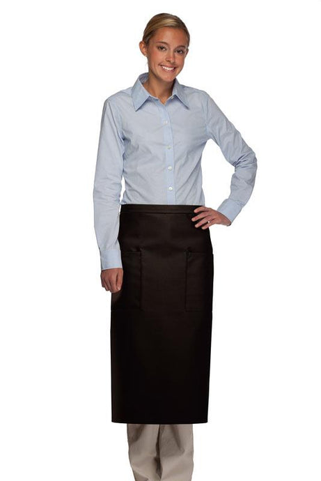 Black 2 Patch Pocket Full Bistro Apron