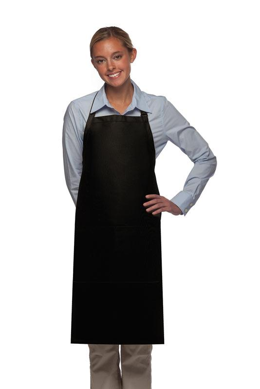 Black 2 Pocket Adjustable Bib Apron