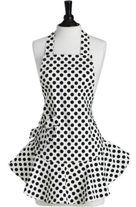 Black and White Polka Dots Bib Apron