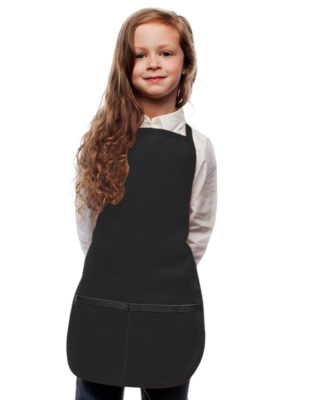 Black Kids 2 Pocket Bib Apron