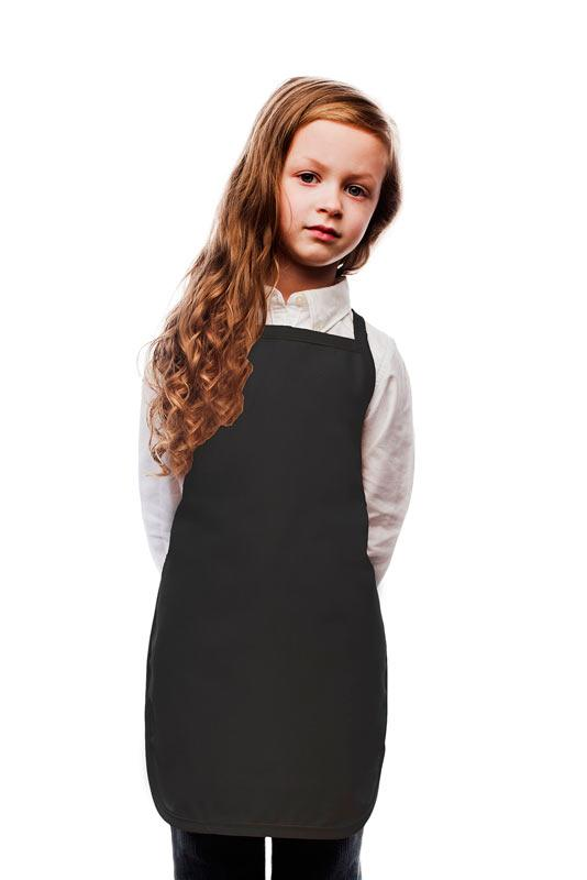 Black Kids No Pocket Bib Apron
