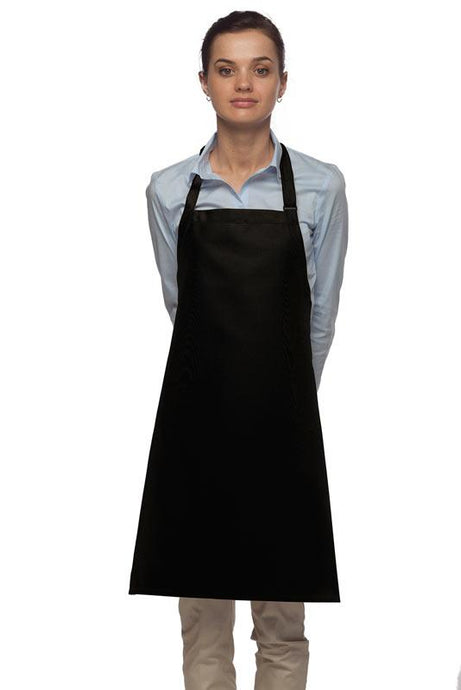 Black No Pocket Adjustable Bib Apron