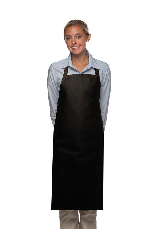 Black No Pocket Adjustable Butcher Apron