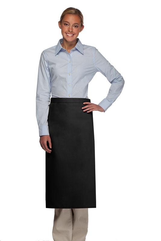 Black No Pocket Full Bistro Apron