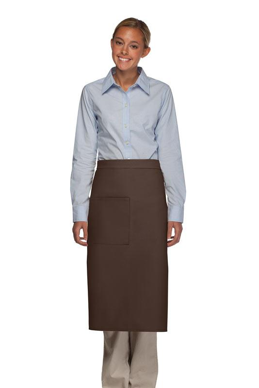 Brown 1 Pocket Full Bistro Apron