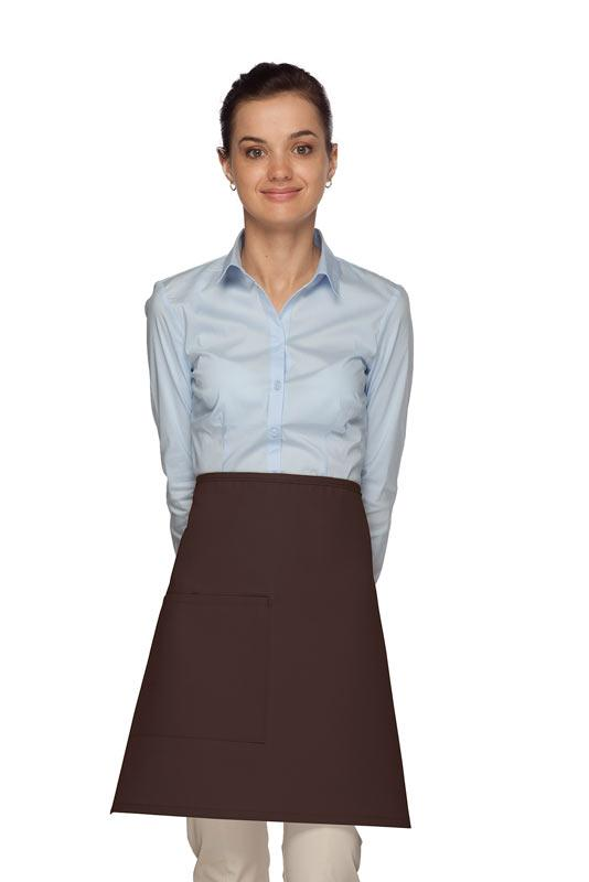 Brown 1 Pocket Half Bistro Apron