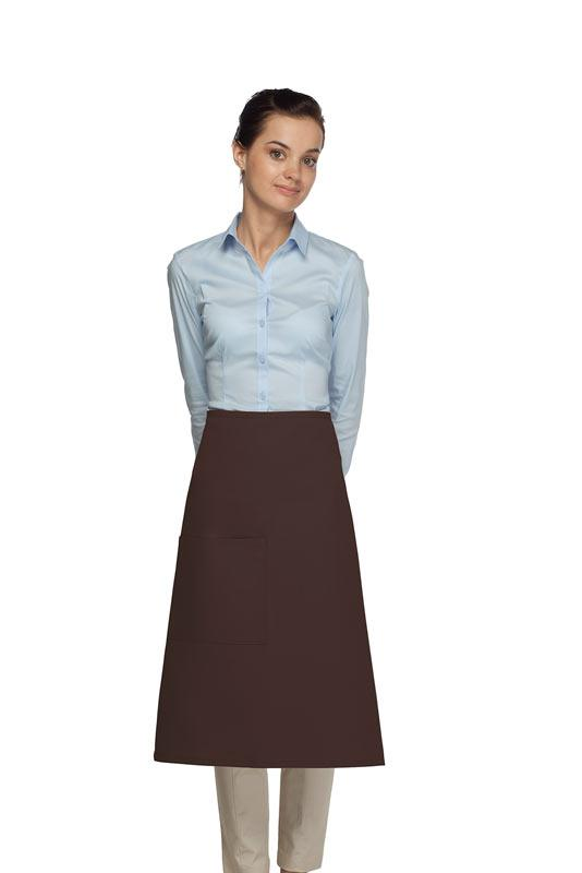 Brown 1 Pocket Three Quarter Bistro Apron