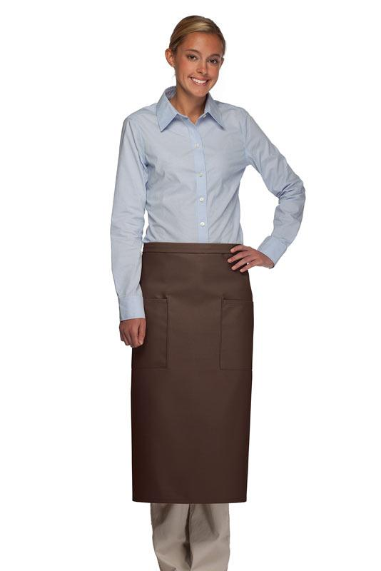 Brown 2 Patch Pocket Full Bistro Apron
