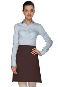 Brown 2 Pocket Half Bistro Apron