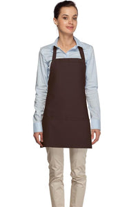 Brown 3 Pocket Bib Apron