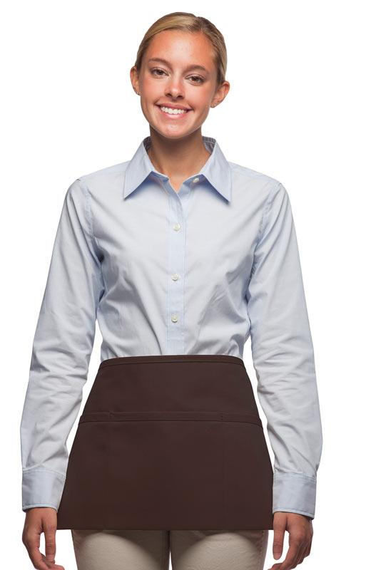 Brown 3-Pocket Waist Apron