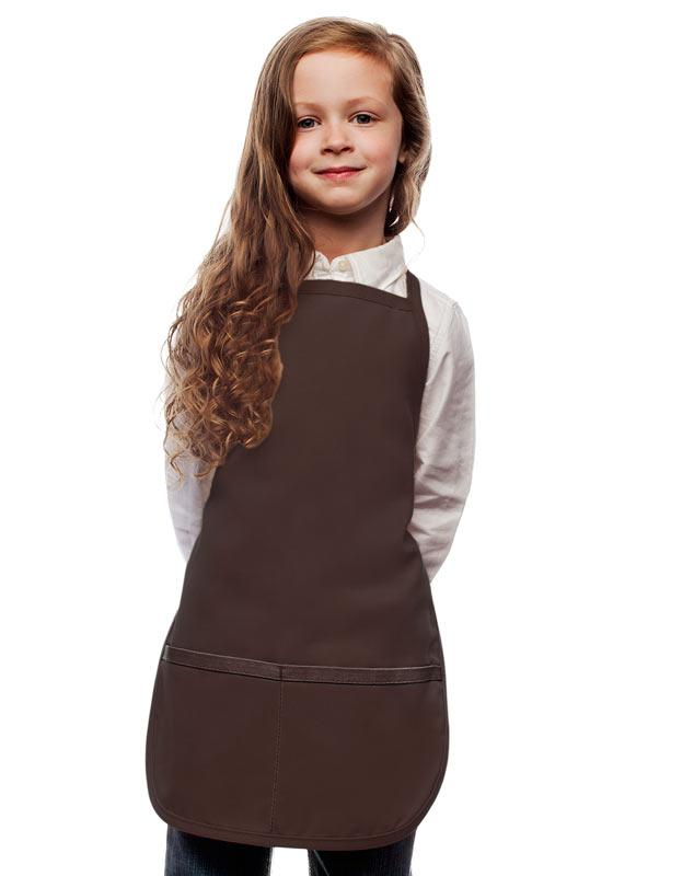 Brown Kids 2 Pocket Bib Apron